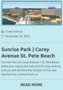 sunrise park corey avenue
